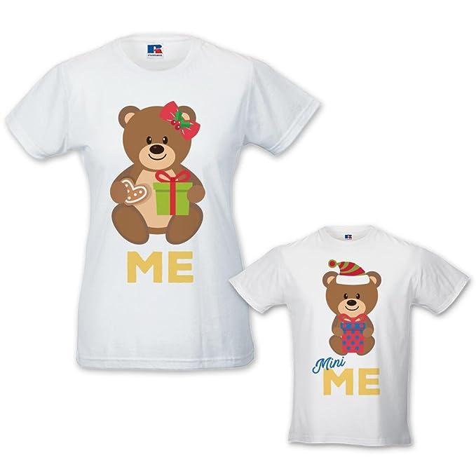 Coppia Di T Shirt Mamma Bambino Idea Regalo Di Natale