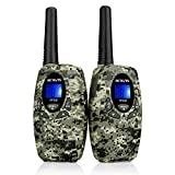 Retevis RT628 Kids Walkie Talkies PMR446 8 Channels VOX Two Way Radio Walkie Talkie Children Boys Girls for Hiking Camping and Other Outdoor Activities(1Pair,Camouflage)