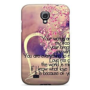 New Love Is You Tpu Case Cover, Anti-scratch TFgGPnL8365bVIgk Phone Case For Galaxy S4