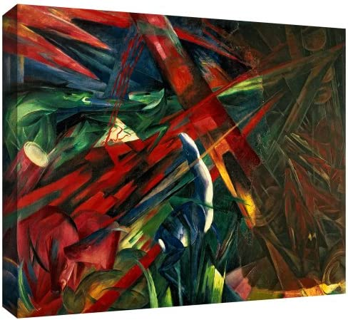 ArtWall Franz Marc Fate of The Animals Gallery Wrapped Canvas Artwork, 14 by 18-Inch