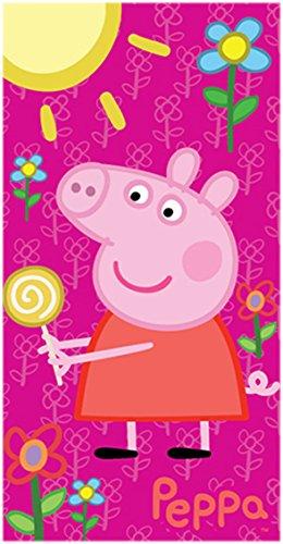 Peppa Pig-Toalla de baño, diseño de chupete, diseño de Peppa Pig