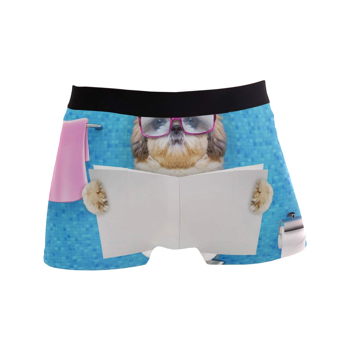 Cute Shih Tzu Dog Boxer Briefs Mens Underwear Pack Seamless Comfort Soft