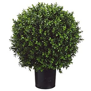 26 Inch Tall Boxwood Ball-Shaped Artificial Topiary w/Pot Indoor/Outdoor 73
