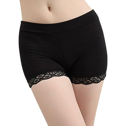 67902f0b75f7 Women Girls Slim Stretch Safe Pants Underwear Lace Trim Shorts Legging  Boyshort Boxers