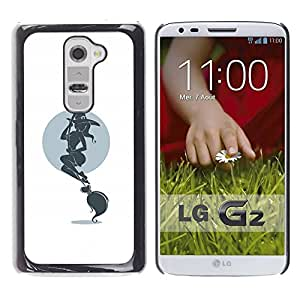 PC/Aluminum Funda Carcasa protectora para LG G2 D800 D802 D802TA D803 VS980 LS980 Hot Witch & Broom / JUSTGO PHONE PROTECTOR