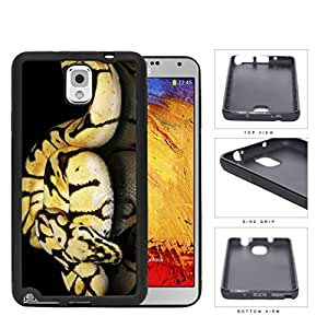 Ball Python Snake On Mirrored Surface Rubber Silicone TPU Cell Phone Case Samsung Galaxy Note 3 III N9000 N9002 N9005