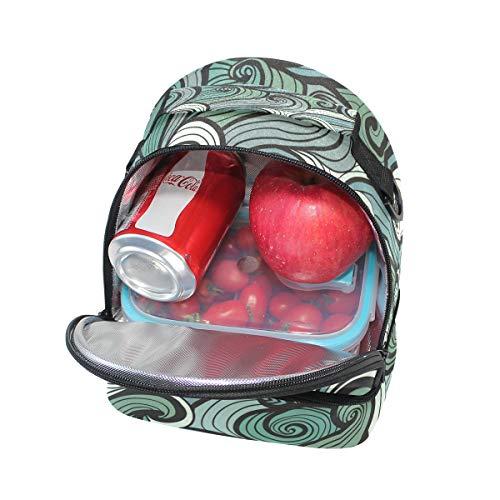 con para Alinlo térmica correa ajustable para almuerzo Bolsa el de la pincnic para hombro escuela xTSvqIT