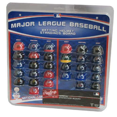 Major League Baseball Helmet Standings Board Clear ()
