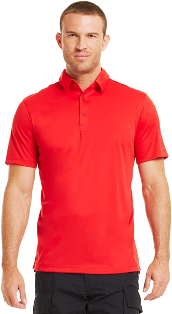 Under Armour Mens coldblack Tactical SOAS Polo X-Large Red