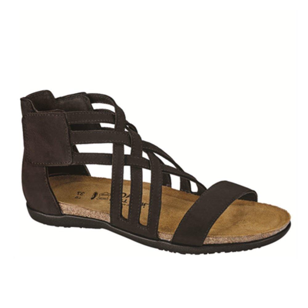 NAOT Women's Marita Sandal Black Velvet Nubuck Size 39 EU (8.5-9 M US Women) by NAOT