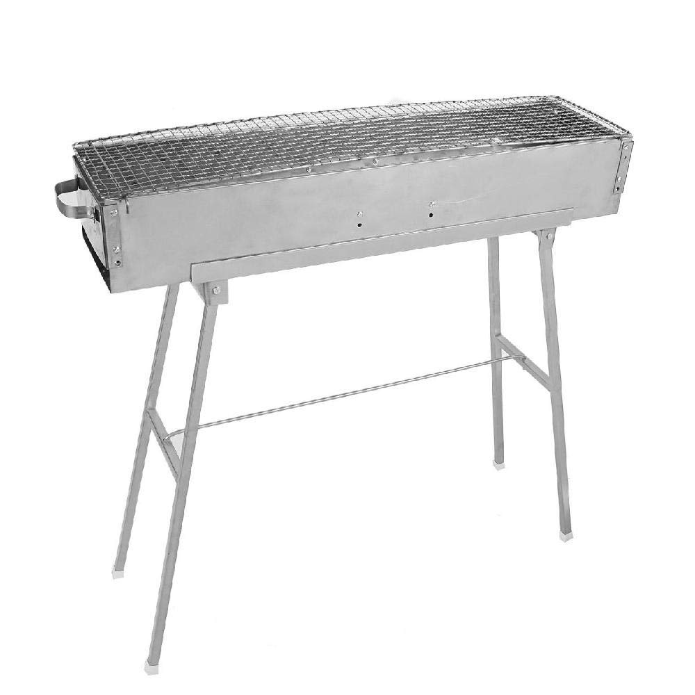 IRONWALLS Charcoal Grill BBQ Kebab Grill Barbecue Tool Kit Stainless Steel for Garden Backyard Cooking Camping Picnic