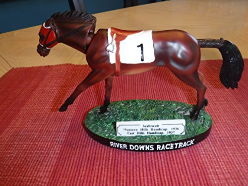 SEABISCUIT 1937 Race Horse Champion River Downs Race Track Bobblehead -Mint condition (Head Racehorse)