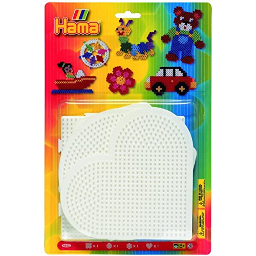 (Hama Beads Square, Circle, Hexagon & Heart Pegboard)