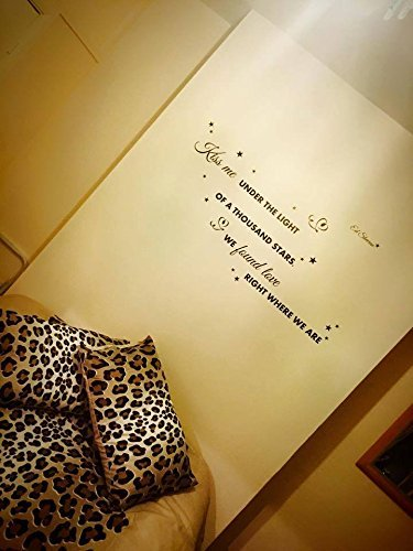 Ed Sheeran Thinking out loud Song Music Lyrics Quote Sticker Wall ...