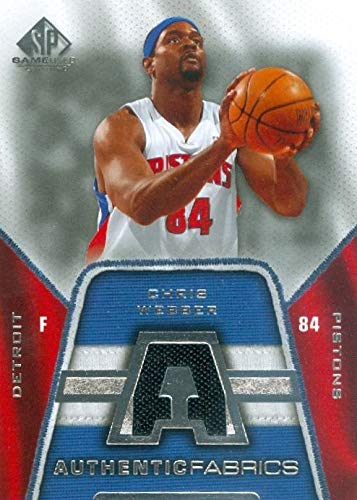 timeless design 21652 8be87 Chris Webber player worn jersey patch basketball card ...