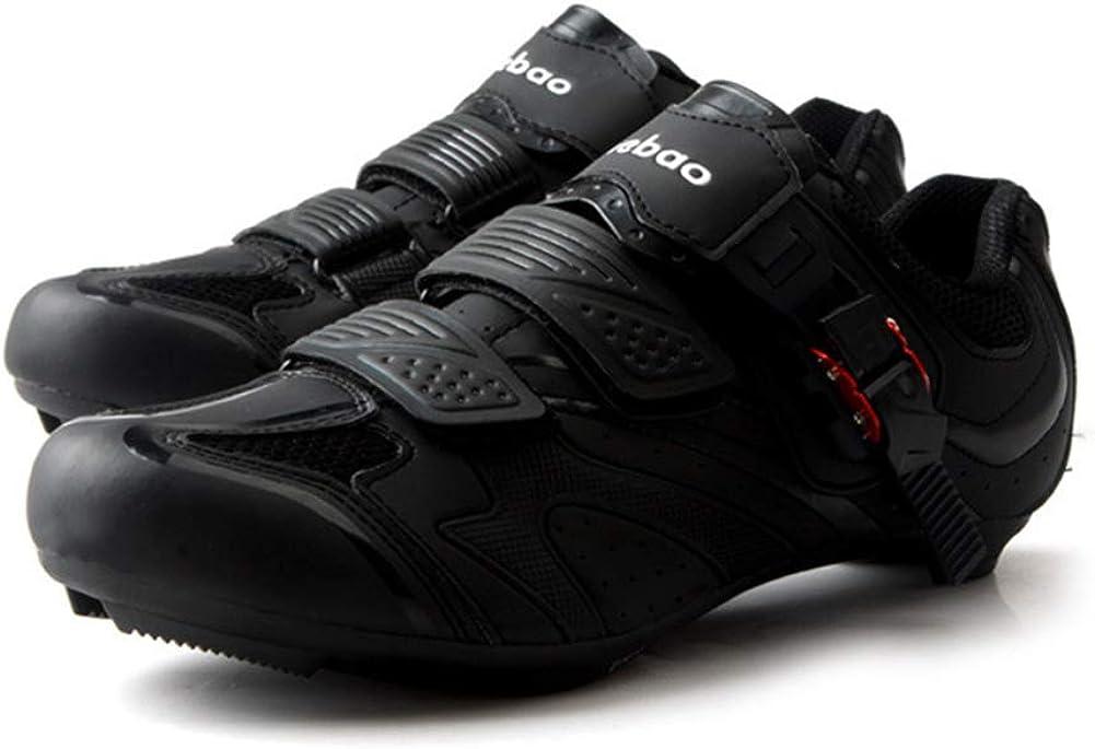 Insun Chaussures de Vélo Respirant Chaussures de Cyclisme Professionnels pour Route ou VTT Route Noir Boucle