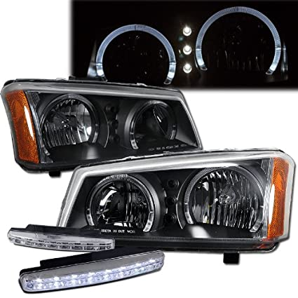Amazon.com: 2005 Chevy Silverado 1500 Halo Led Headlights + ... on