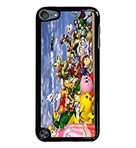 Super Smash Brothers Black Hardshell Case for iPod Touch 5G iTouch 5th Generation