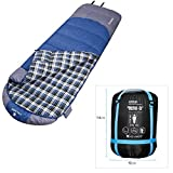 Outdoor Camping Adult Hiking Sleeping Bag Envelope Hollow Cotton Warm Sleeping Bags for Camping and Hiking Review