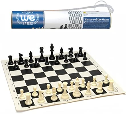 Amazon Com We Games Roll Up Travel Chess Set In Carry Tube
