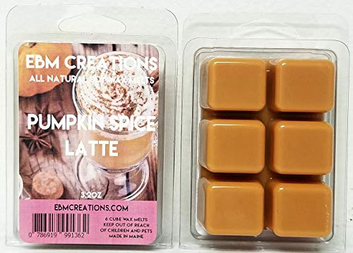 Pumpkin Spiced Latte (Type) - Scented All Natural Soy Wax Melts - 6 Cube Clamshell 3.2oz Highly -