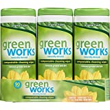 Green Works Compostable Cleaning Wipes Value Pack, Original, 90 Count