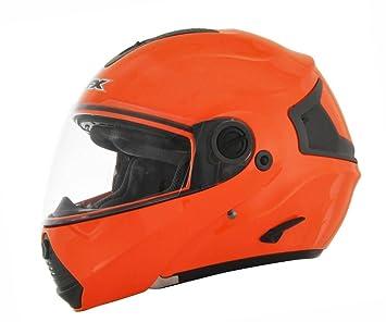 AFX FX-36 seguridad naranja Modular casco de moto, color naranja, tamaño 2XL
