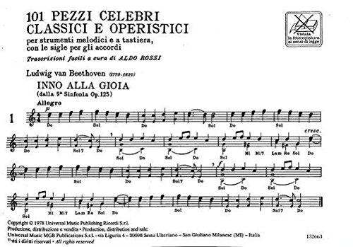 Rossi Aldo 101 pezzi celebri classici e operistici