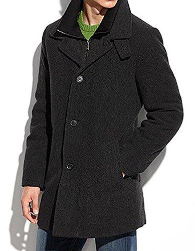 Calvin Klein Men's Coleman Top Coat with Knit Bib, Charcoal, 40 - Brands Designer 50 Top