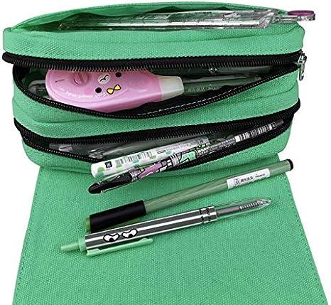Trousse /à crayons pour gar/çon Avec 2 fermetures /Éclair et fermeture Velcro Trousse scolaire pour les instruments d/'/écriture 01.