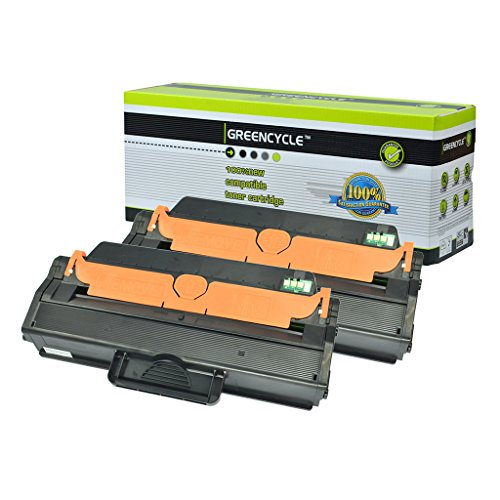 GREENCYCLE 2 Pack MLT-D115L D115L Black Toner Cartridge Compatible For Samsung SL-M2870FW Laser Printer