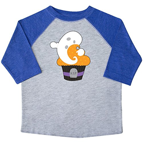 Inktastic - Cupcake With Ghost Toddler T-Shirt 2T Heather and (Halloween Cupcakes For Preschoolers)