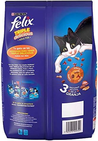 Felix Croquetas para Gato, Triple Delicious, Granja, 1.5Kg 3