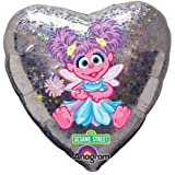 18 in Sesame Street Abby Cadabby Mylar Holographic Birthday Party Balloon