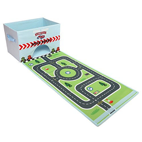 Livememory Cars Kids Toy Storage Box Play Mat Toys Storage B