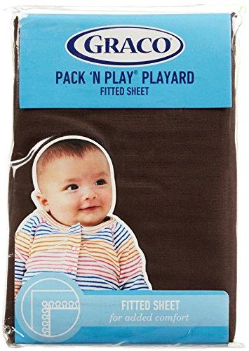Graco Pack 'n Play Playard Sheet - Chocolate Brown ()