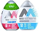 (US) Mio Vitamins Tropical Cherry & Mio Electrolytes Berry Blast B Vitamins Liquid Water Enhancer 1.62 Fl Oz (2)