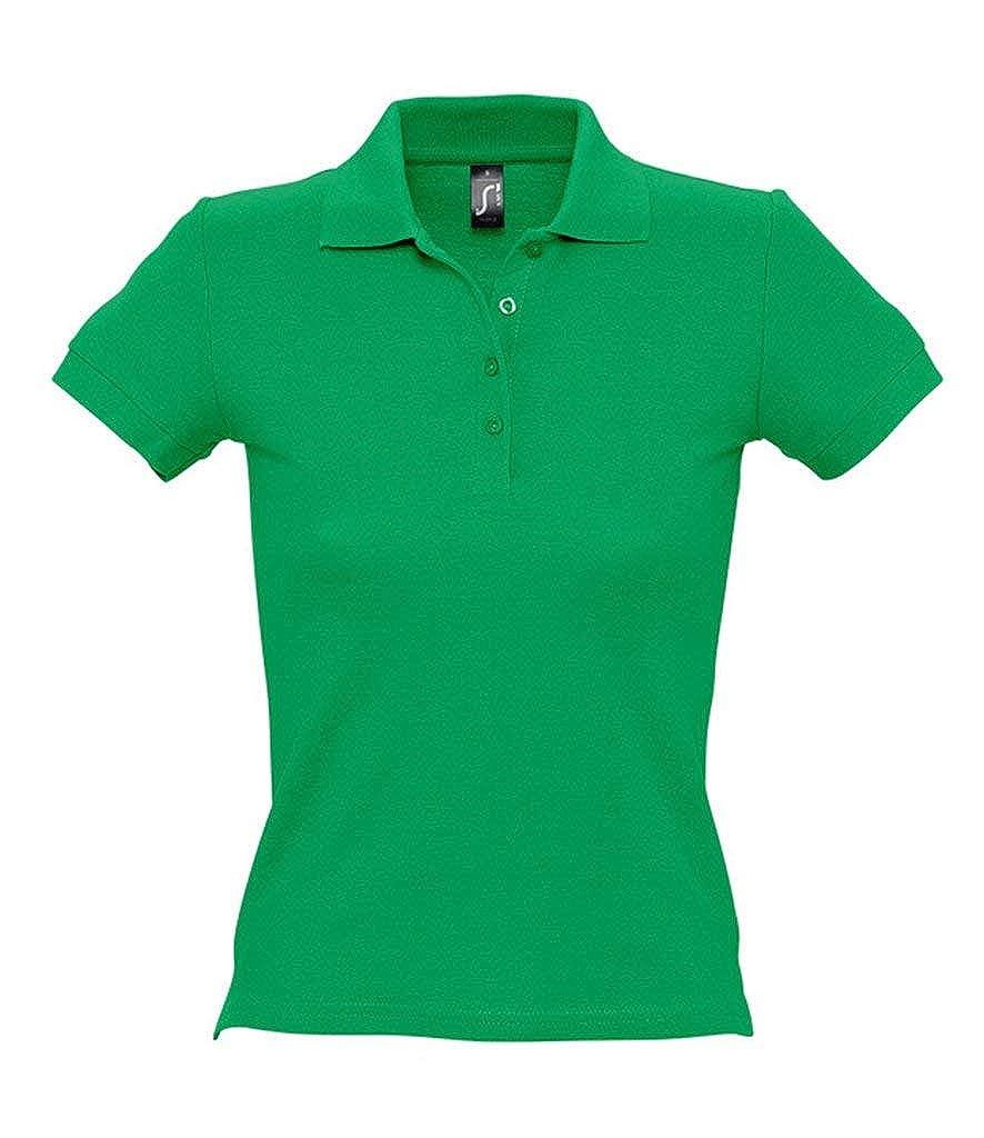 SOLS - Polo de piqué de algodón para Mujer Verde Verde Kelly M ...