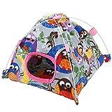 Pet Bird Nest Cute Cartoon Parrot Carpa Coral Mat Hut Jaula Snuggle Happy Bed Mat para Parrot Birds(#2)
