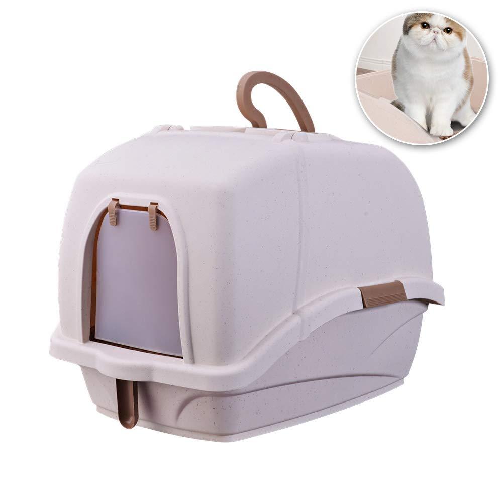 Orinal para Gatos De Gran Tama/ño FZXPET Gato Cuenca De Arena Desodorante para Gatos Completamente Cerrado,Inodoro A Prueba De Salpicaduras
