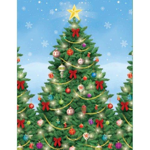 Amscan Christmas Decoration Evergreen Plastic Wall Scene Setter| 4 Ct. ()