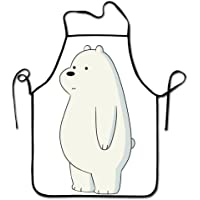 Cute Stand Ice Bear We Bare Kitchen Aprons Long Tie Adjustable Bib Apron Adult's Aprons for Cooking Baking Griling