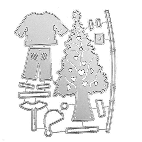 Whitelotous Different Patterns Metalic Christmas Cutting Dies Stencil DIY Scrapbooking Album Paper Card (Christmas Set)