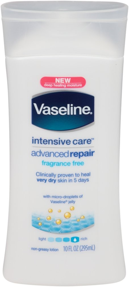 Vaseline Intensive Care Lotion Advanced Repair 10 Ounce Fragrance-Free (295ml) (2 Pack) by Vaseline