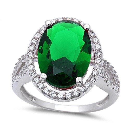 Oval Cut Emerald Ring - 5