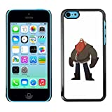 A-type Colorful Printed Hard Protective Back Case Cover Shell Skin for Apple iPhone 5C ( Big Man Belly Red Beard Drawing Art )