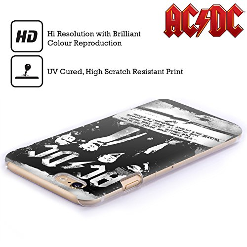 Officiel AC/DC ACDC Rock Ou Buste Paroles Étui Coque D'Arrière Rigide Pour Apple iPhone 4 / 4S