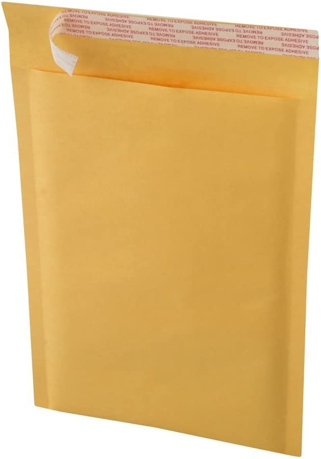 EcoSwift BM124012400 50 Size #0 6 x 10 Kraft Bubble Mailers Self Sealing Bulk Padded Shipping Supplies Packaging Materials Envelopes Bags
