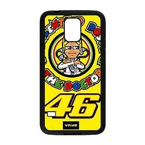 Samsung Galaxy S5 I9600 Phone Case Black Valentino Rossi F5935412