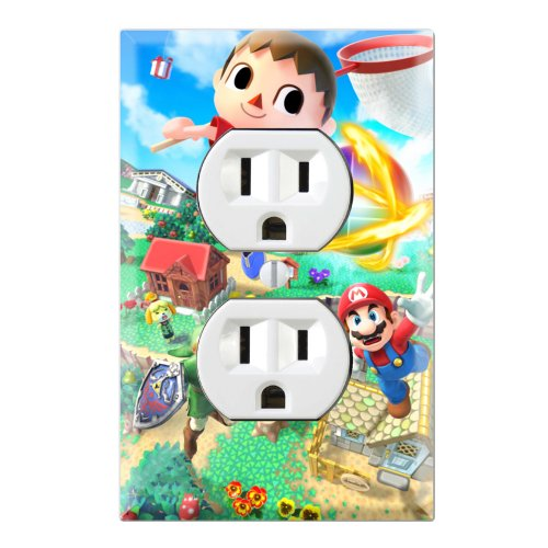 Duplex Wall Outlet Plate Decor Wallplate - Super Smash Bros Mario Animal Crossing Zelda Kirby